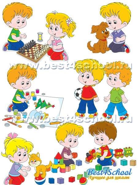 Картинки с детьми рисованные (16)