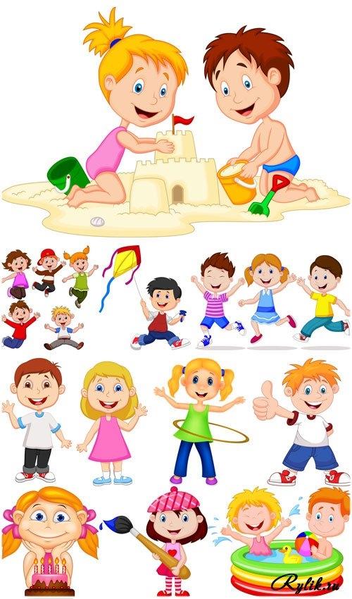 Картинки с детьми рисованные (18)