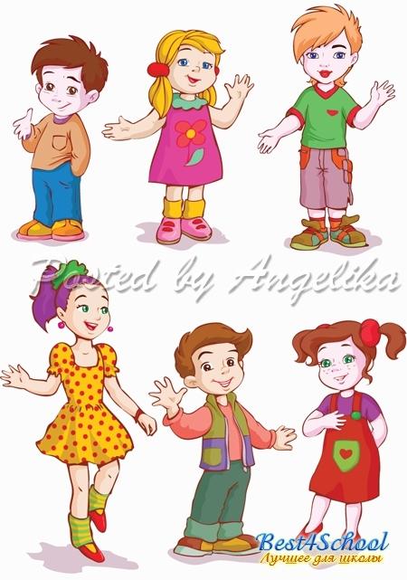 Картинки с детьми рисованные (21)