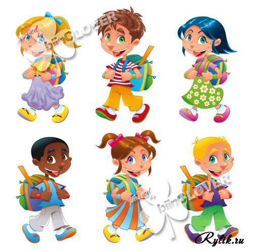 Картинки с детьми рисованные (24)