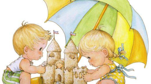 Картинки с детьми рисованные (25)