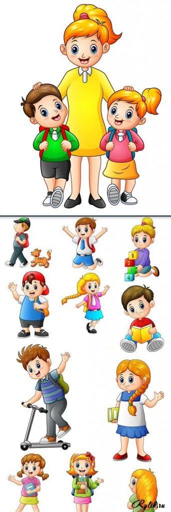 Картинки с детьми рисованные (6)