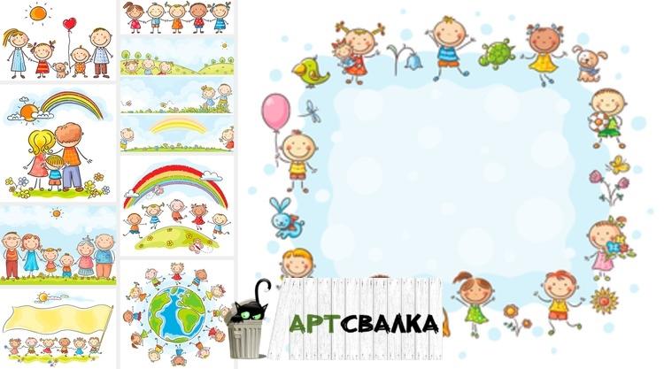 Картинки с детьми рисованные (8)