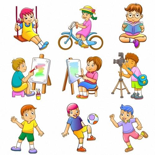Картинки с детьми рисованные (9)