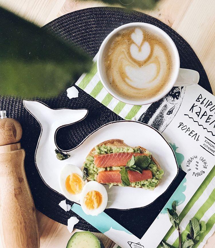 Красивые картинки с кофе и завтраком017