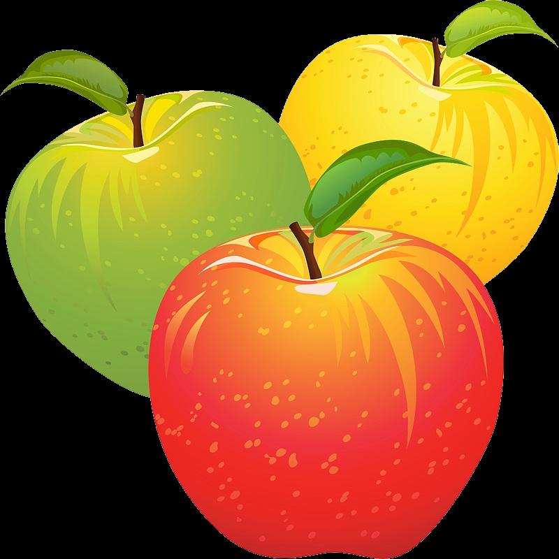 Красивые картинки яблоко на прозрачном фоне (4)