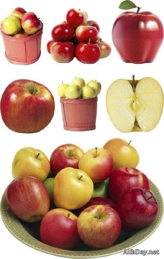 Красивые картинки яблоко на прозрачном фоне004