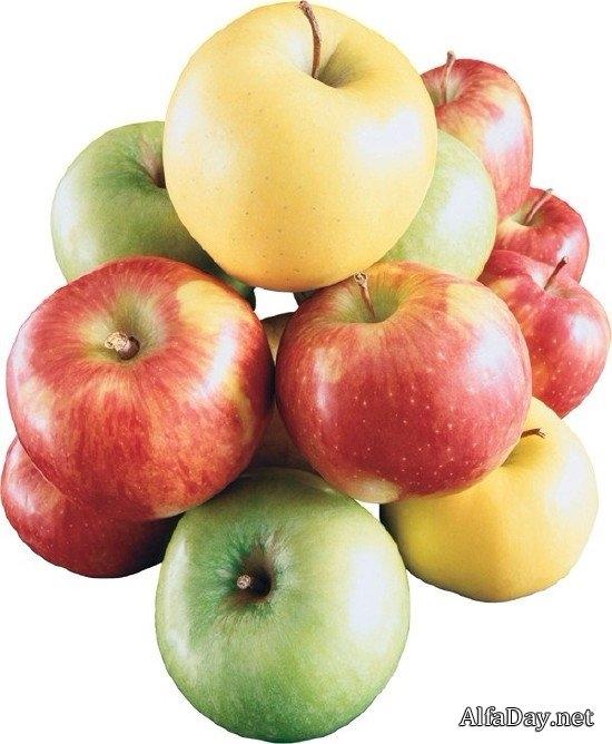 Красивые картинки яблоко на прозрачном фоне005