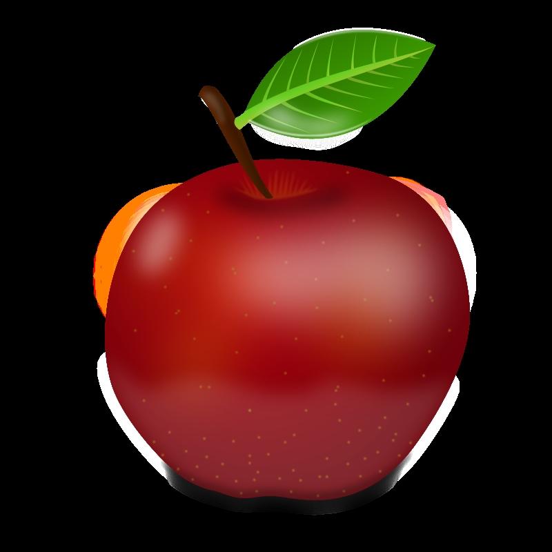 Красивые картинки яблоко на прозрачном фоне006