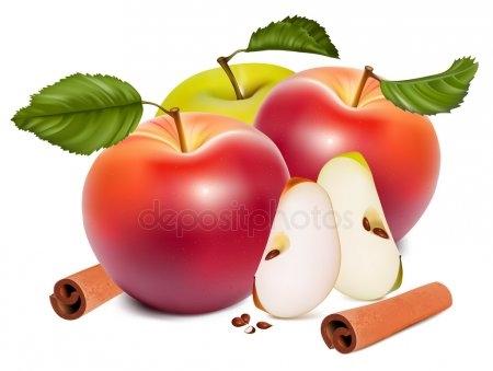 Красивые картинки яблоко на прозрачном фоне008