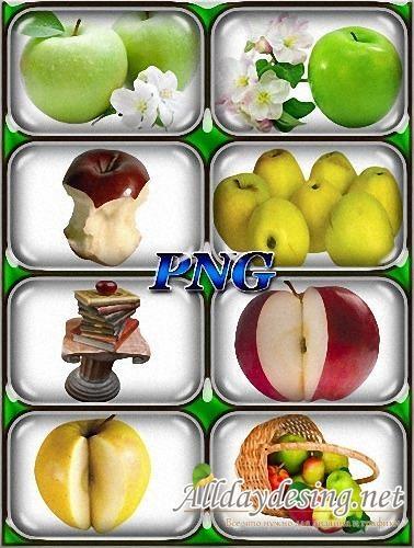 Красивые картинки яблоко на прозрачном фоне009
