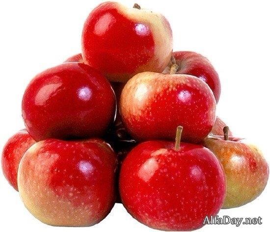 Красивые картинки яблоко на прозрачном фоне016