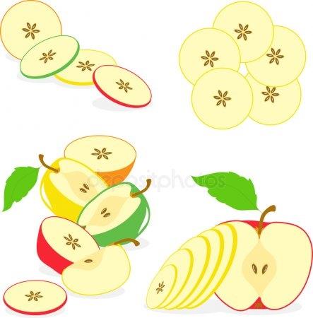 Красивые картинки яблоко на прозрачном фоне017