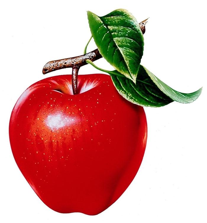 Красивые картинки яблоко на прозрачном фоне019