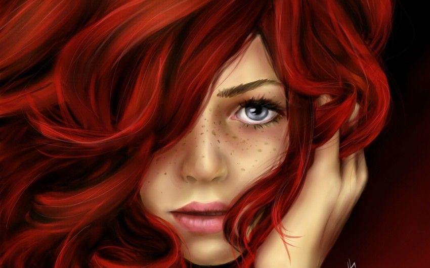 Красивые фото рыжей девушки на аву в ВКонтакте - 20 картинок (15)