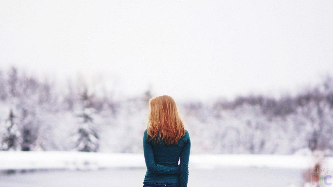 Красивые фото рыжей девушки на аву в ВКонтакте   20 картинок (23)