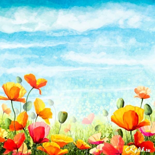 Красивый фон цветы для фотошопа001