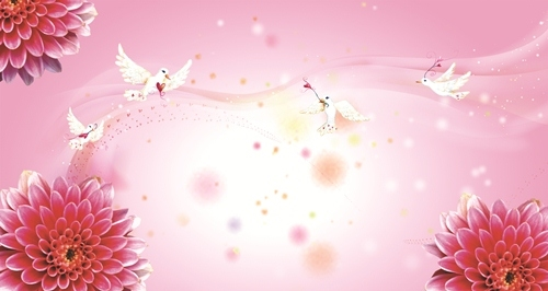 Красивый фон цветы для фотошопа004