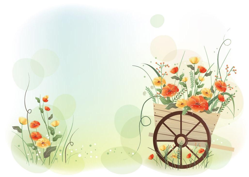 Красивый фон цветы для фотошопа013