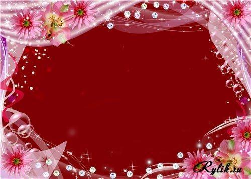 Красивый фон цветы для фотошопа018