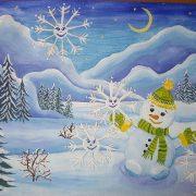Лес зимний картинки для детей021
