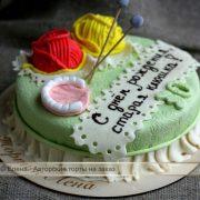 Надпись на торт подруге 023