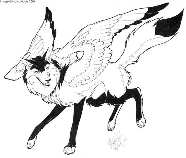 Рисунки для срисовки волки аниме007