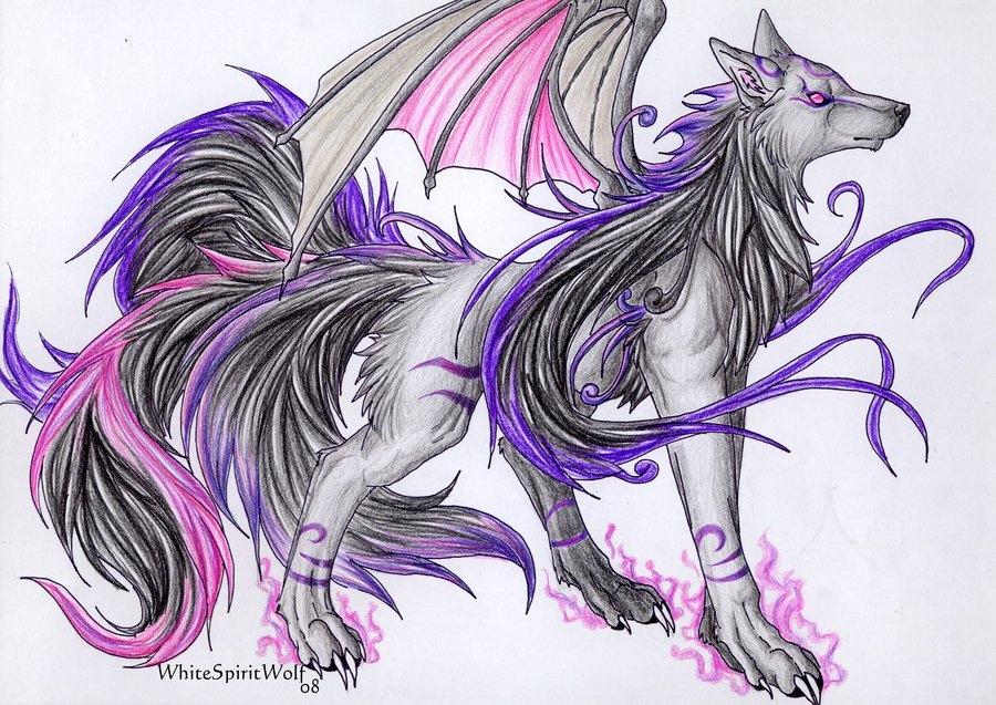 Рисунки для срисовки волки аниме009