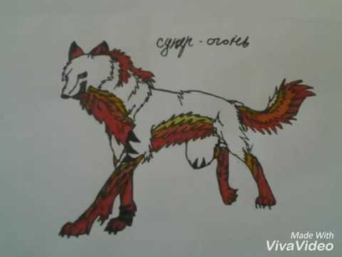 Рисунки для срисовки волки аниме012