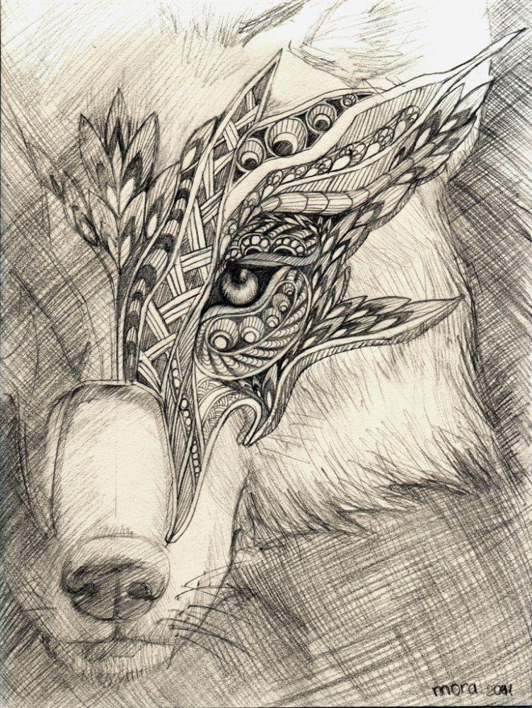 Рисунки для срисовки волки аниме014
