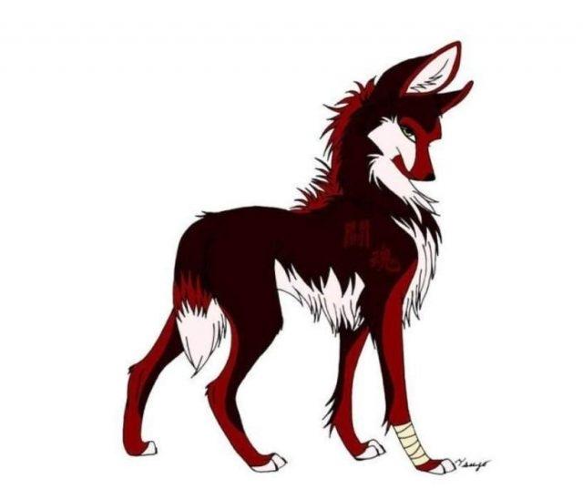 Рисунки для срисовки волки аниме018
