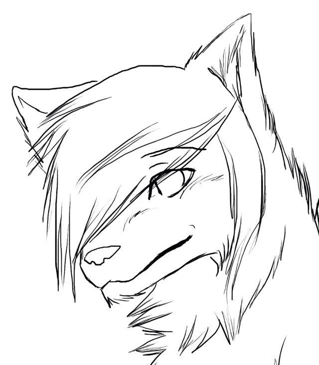 Рисунки для срисовки волки аниме021