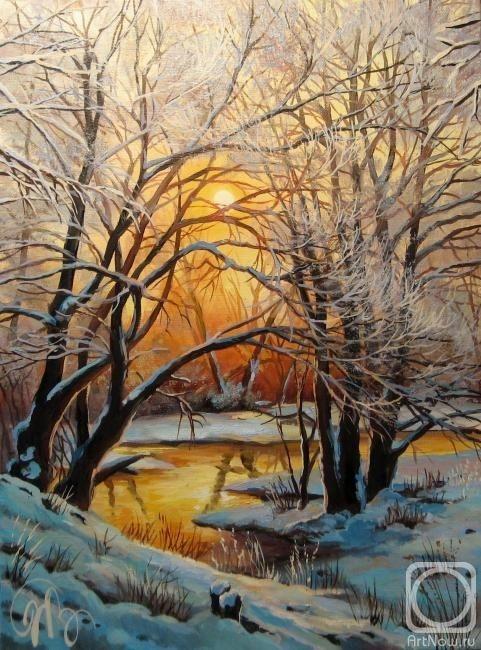 Рисунок на тему зимний вечер010