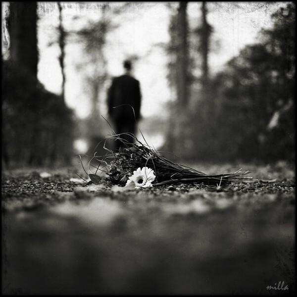 Черно-белое фото расставани 002