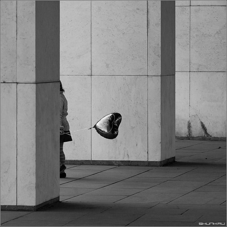 Черно-белое фото расставани 008