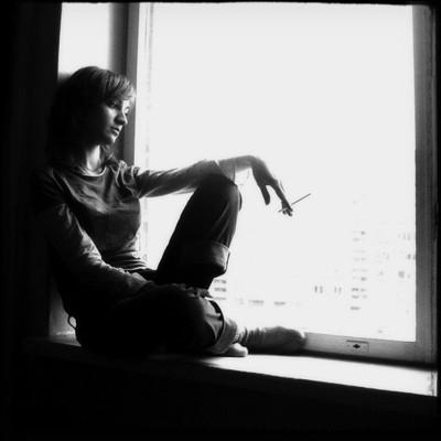 Черно-белое фото расставани 015