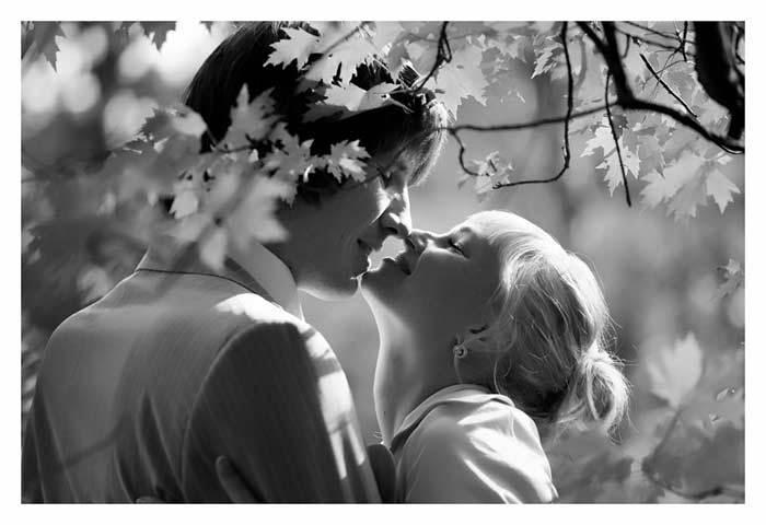 Черно-белое фото расставани 018