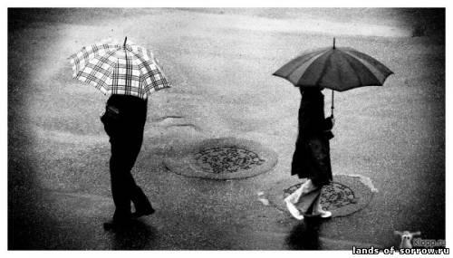 Черно-белое фото расставани 020