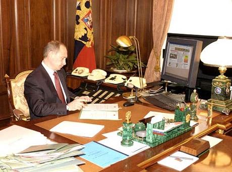 фото Путина в кабинете (10)
