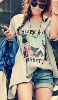 фото девушек в футболке и в шортах (13)