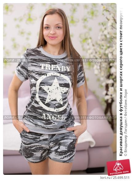 фото девушек в футболке и в шортах (17)