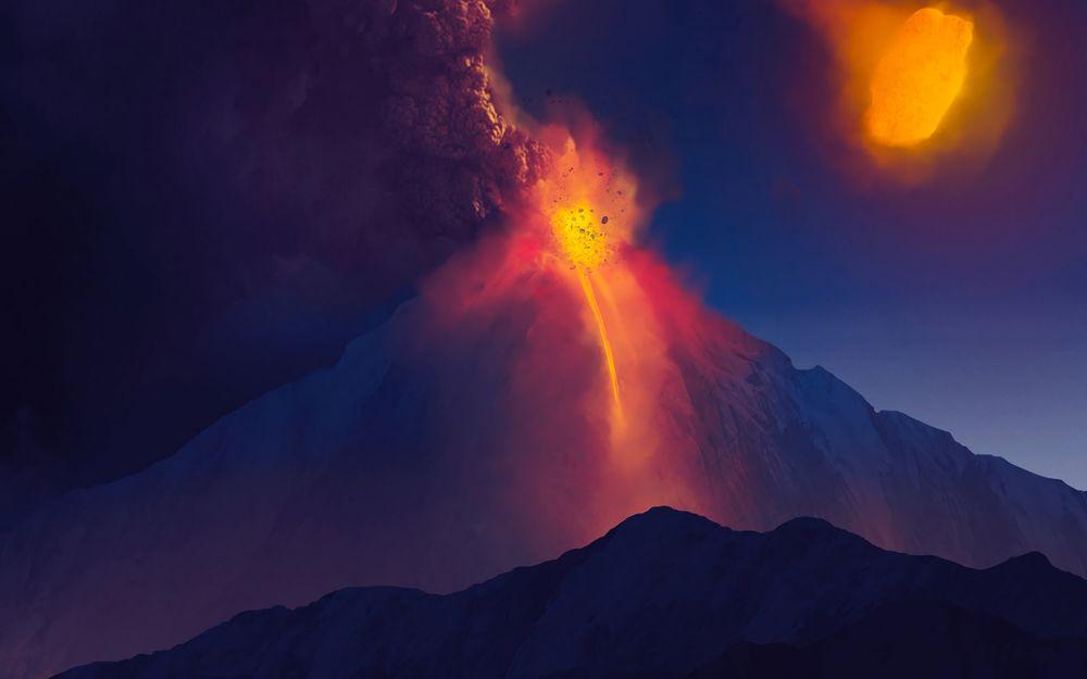 Как себя вести при извержении вулкана (2)