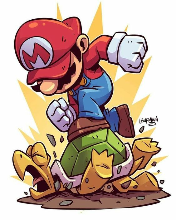 Луиджи и Марио - красивые картинки карандашом, арты (10)