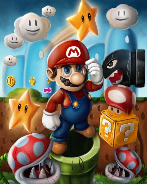 Луиджи и Марио - красивые картинки карандашом, арты (13)
