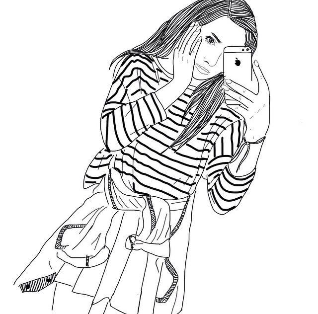 Аниме картинки нарисованные девочки (16)