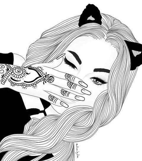 Аниме картинки нарисованные девочки (21)
