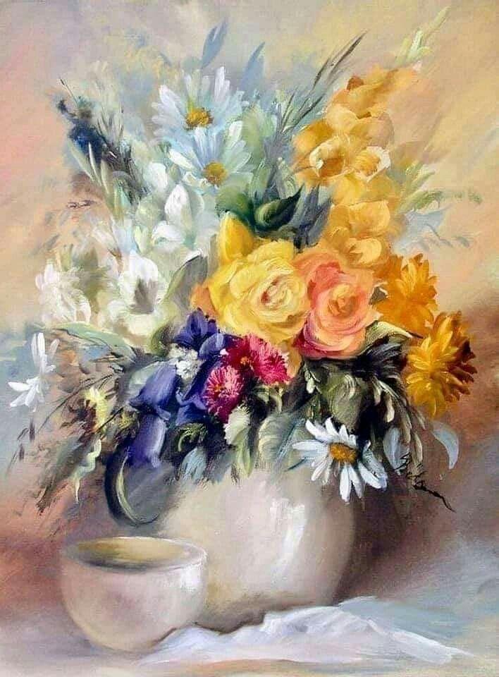 Букеты живопись маслом - красивые картины (10)