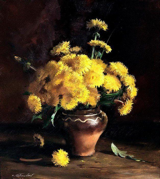 Букеты живопись маслом - красивые картины (11)