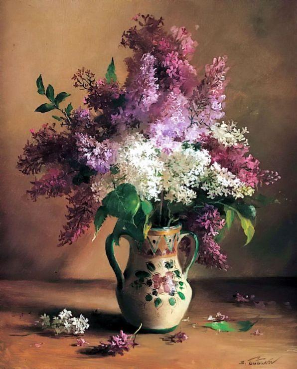 Букеты живопись маслом - красивые картины (15)