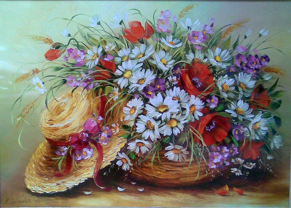 Букеты живопись маслом - красивые картины (2)